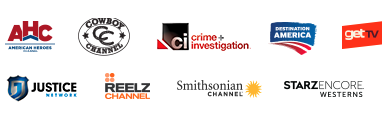American Heros Channel, Cowboy Channel, CI Crime Investigation, Destination America TV Channel, get tv, Justice Network, Reelz Channel, Smithsonian Channel, Starz Encore Western - Dish